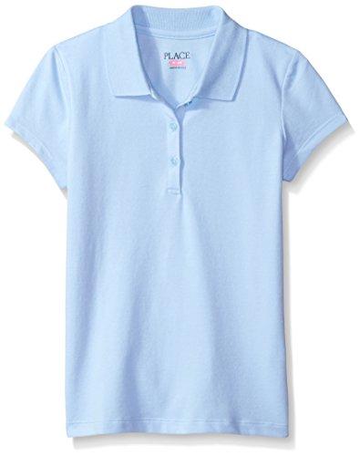 The Children's Place Big Girls' Uniform Short Sleeve Polo, Daybreak 3378, Medium/7/8