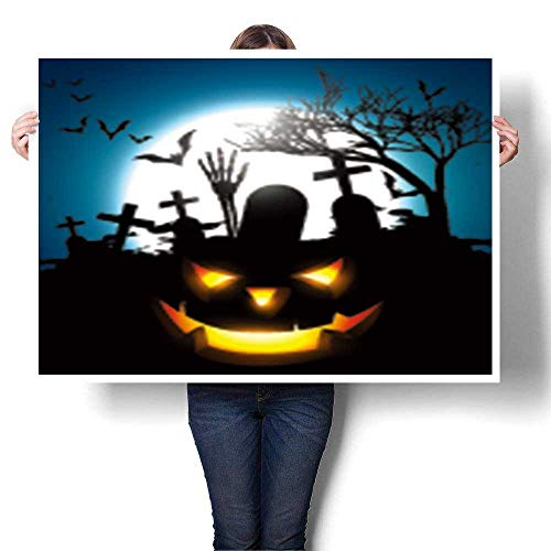 Canvas Wall Art,Halloween Vector Design Background Living Room Office Decoration,32
