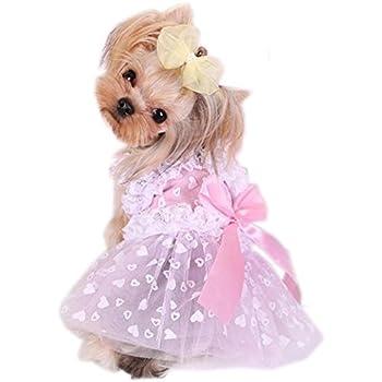 PetsLove Pet Dresses Doggie Skirt Princess Costume Cat Clothes Dog Dress Apparel Pink L  sc 1 st  Amazon.com & Amazon.com : PetsLove Pet Dresses Doggie Skirt Princess Costume Cat ...