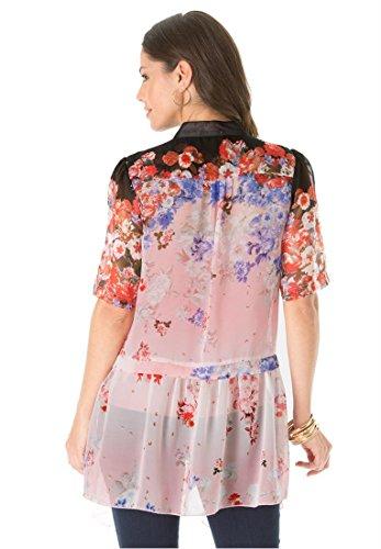 Roamans Women's Plus Size Floral Blouse