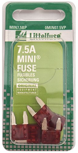Ford Expedition Fuses - Littelfuse MIN7.5BP MINI 297 Series Fast-Acting Automotive Blade Fuse - Pack of 5