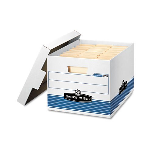 Bankers Box : Quick/Stor Lock Lid File Box, Letter/Legal, 12 x 15-1/4 x 10-1/4, WE/BE, 12/Ctn -:- Sold as 1 - Case 752