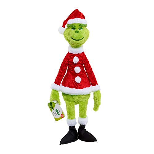 Grinch Plush Gift Set With Removable Santa Suit, Green