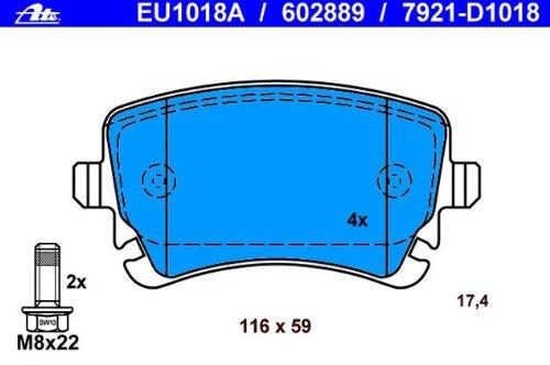 Scheibenbremse ATE 13.0460-2889.2 Bremsbelagsatz