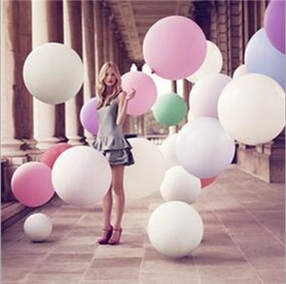 Zebratown 10 Pcs/lot Super Big Balloons 27 Inches Round Balloons Large Balloons 12g Wedding Party Holiday Toys Arrangement