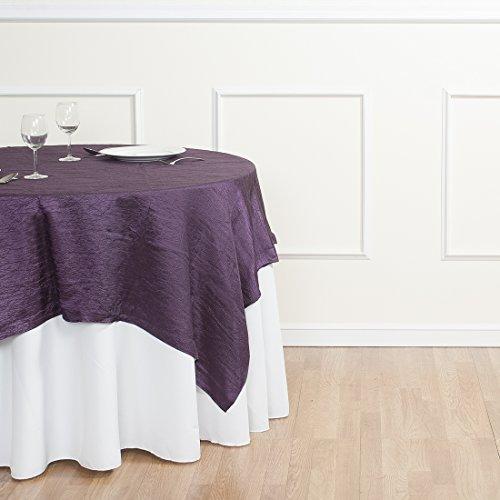 Taffeta Over - LinenTablecloth Square Crinkle Taffeta Overlay, 72
