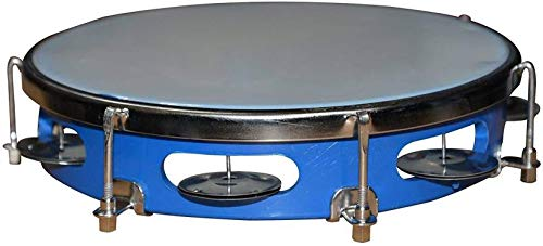 indian Dafli/Tambourine Random colour 10 inch Hand Percussion Musical Instrument