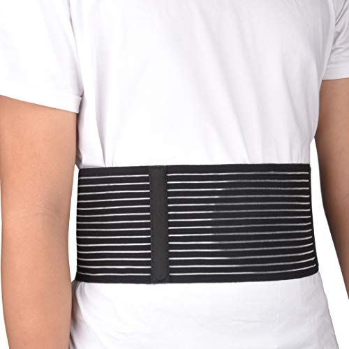 VEDA Umbilical Hernia BeltBrace - for Women and Men - Abdominal Hernia Binder for Belly Button Navel Hernia Support, Helps Relieve Pain - for Incisional, Epigastric, Ventral, Inguinal Hernia (L/XL)