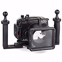 EACHSHOT 40m/130ft Underwater Diving Camera Housing for Fujifilm X-A2 With 16-50mm Lens + Two Hands Aluminium Tray