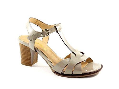 IGI & CO 38533 zapatos de polvo de las sandalias de tacón de charol las mujeres Grigio