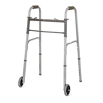 Healthcare Direct Basic Two Button Walker with 5-inch wheels