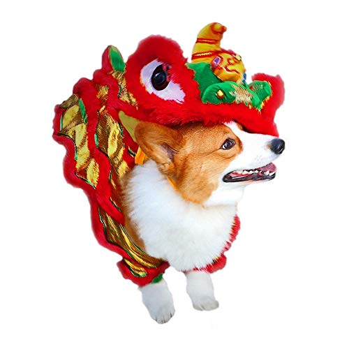 (FOONEE Dog Costume Lion Dance Dragon Dance Pet Clothes - Chinese New Year Costume Creative Pet Clothing for Pet)