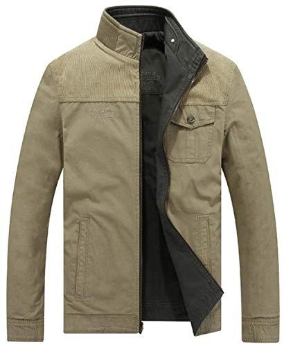 Outerwear Zipper Down Jacket 1 Armee Side Outdoor Grün Jackets Men's Outerwear Long Jacket Unique Sleeve Pockets atTqxwnd