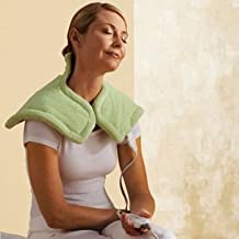 Sunbeam 885-915 Renue Neck and Shoulder Heating Pad WITH Weighted Edges, Moist Heat option and 4 Heat Settings