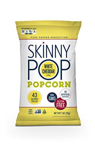 (SkinnyPop Popcorn, Skinny Snack, White Cheddar, 1 Ounce (Pack of 12))