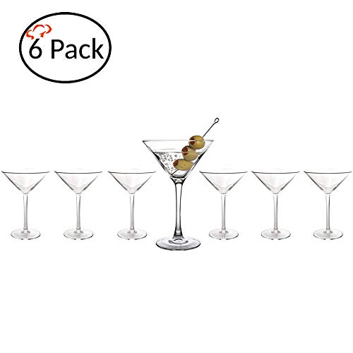 (Tiger Chef Polycarbonate Drinking Glasses (6 Pack, Martini 8 Oz))