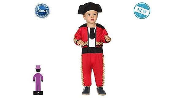 Atosa-61281 Atosa-61281-Disfraz Torero-Bebé + 24 Meses-Niño-Rojo ...