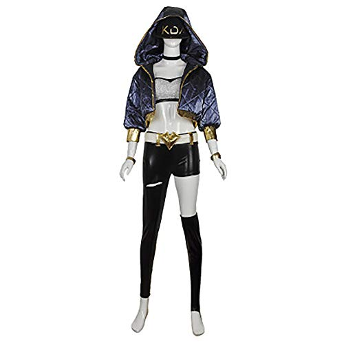 (LOL League of Legends cos KDA Women's Team Akali Cosplay Costume Halloween Party)