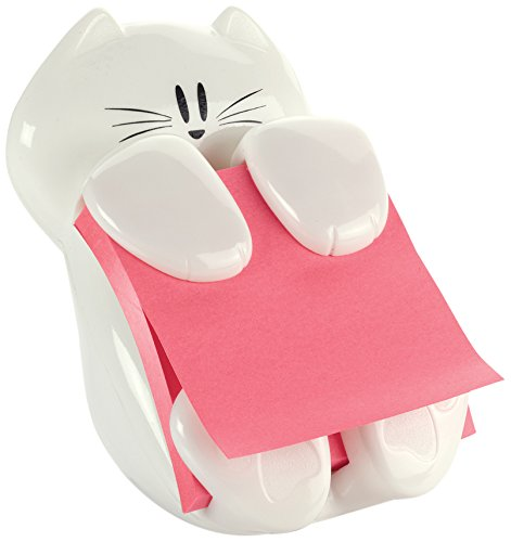 Post-it Pop-up Note Dispenser, 3 in x 3 in, Cat Figure, Pad Colors May Vary (CAT-330)