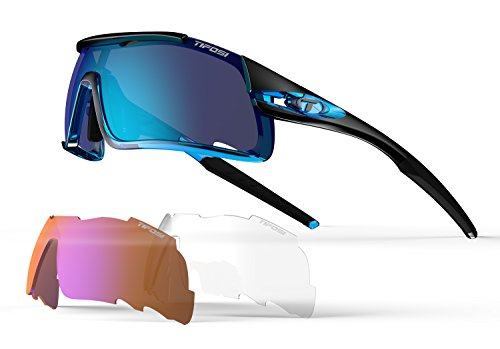Tifosi Davos Crystal Sunglasses, (Crystal Blue Sunglasses)