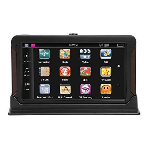 MP5 Player, LiChiLan 7Inch 8G Capacitive Touch Screen Console Car GPS Navigator (North America)