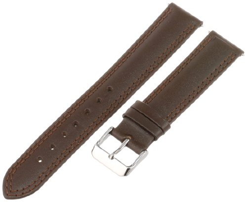 Voguestrap TX41719LBN Allstrap 19mm Brown Long-Length Distressed Leather Watchband