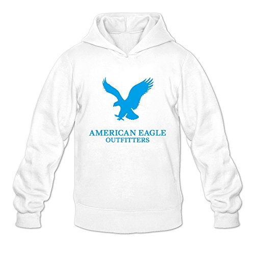 (Men's American Eagle Outfitters Hoodies M White )