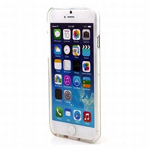 Pour Apple iphone 6 6S (4.7) Coque Etui, Ougger [Haute qualité] Unique Soft Mince Transparent TPU Caoutchouc Silicone Léger Protecteur Coquille Skin Housse (Série Peints 21)