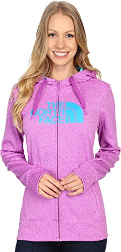 The North Face Women's Fave Half Dome Full Zip Hoodie Sweet Violet Heather/Bluebird (Prior Season) -