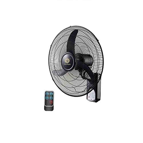 Adjustable Remote Horn - Sunny 18 inches Fashion Black Wall Fan Oscillate 3 Speeds Adjustable, Mechanical Style/Remote Control Style