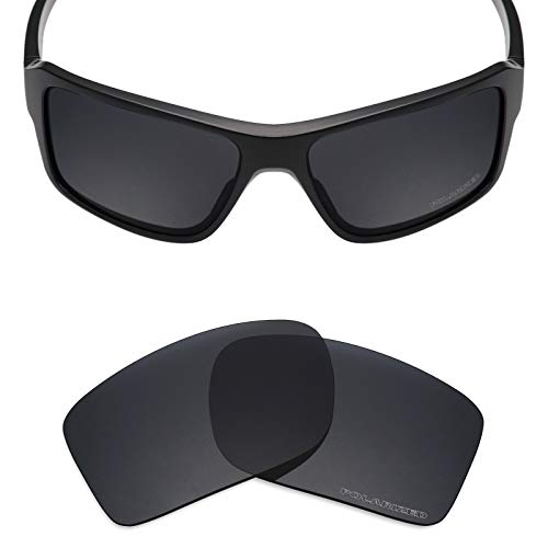 Mryok+ Polarized Replacement Lenses for Oakley Double Edge - Stealth Black
