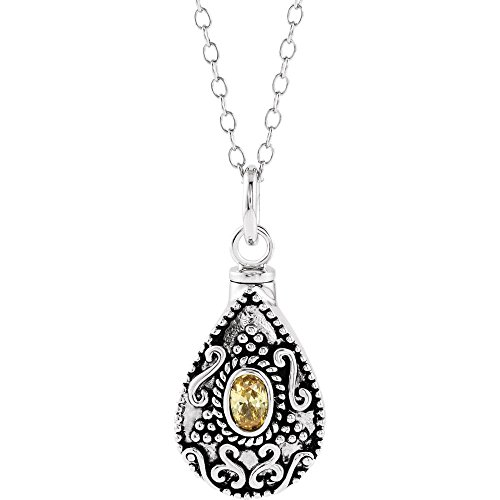 Bonyak Jewelry Sterling Silver November Birthstone Accented Tear Ash Holder 18