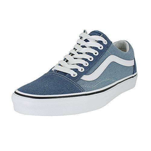 Vans Unisex Old Skool Denim 2-Tone Blue/True White Sneaker - - Denim Sneakers