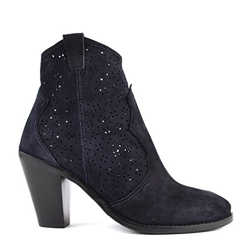 Navy Lila B Laser Ankle Boot Cut Suede Shoes Navy Elia 74fnxS7
