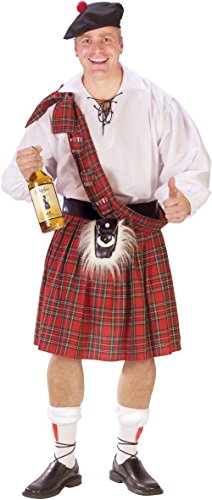 Scottish Red Plaid Kilt