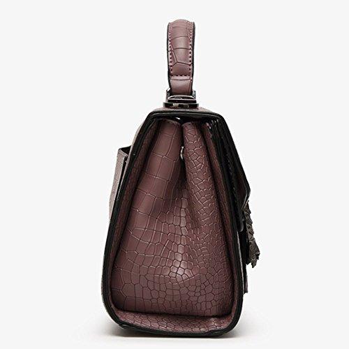 Eysee - Bolso de tela de poliuretano para mujer morado oscuro