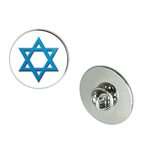 Blued Tacks - NYC Jewelers BLUED Look STAR OF DAVID (Israel Logo) Metal 0.75