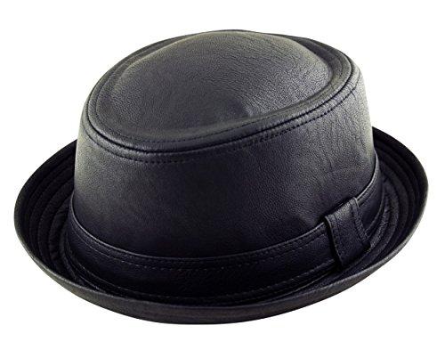 Adulte Noir-Chapeau porkpie feutre Fedora-Bandeau mixte-Noir (Breaking Bad Heisenberg Style)