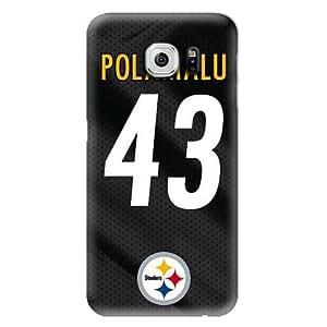 S6 Edge Case, NFL - Troy Polamalu - Pittsburgh Steelers - Samsung Galaxy S6 Edge Case - High Quality PC Case