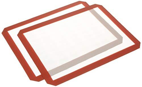 """DNTECH DNTECH-GJD-2P Baking Mat, 16.33 X 11.53 X 0.027"""", Red"""
