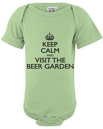 shirtloco Baby Keep Calm and Visit The Beer Garden Infant Bodysuit, Key Lime 18 Months