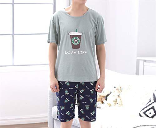 Mq Set Notte Camicia Constructs Uomo A In Cotone Da 605 Abbigliamento Pigiama Corte Maniche Casual qOvO8UTwE