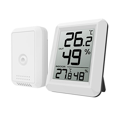 ORIA Digital Hygrometer Thermometer, Thermometer Humidity Monitor, Temperature Humidity Gauge Meter, ℃/℉ Switch, LCD Screen, Indoor & Outdoor Monitor for Warehouse, Home, Office, Greenhouse, Babyroom by ORIA