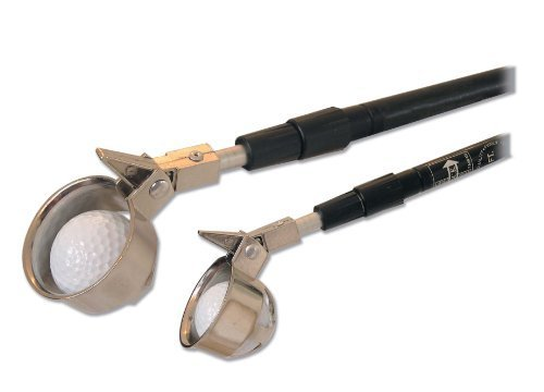 15' Golf Ball Retriever w/ Hinge Cup by JP Lann (Retracts to 44
