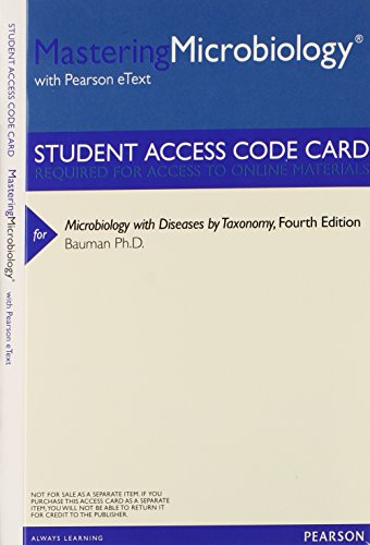 MasteringMicrobiology with Pearson EText -- ValuePack Access Card -- for Microbiology with Diseases by Taxonomy