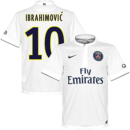 Camiseta Nike PSG Away Ibrahimovic 2014-2015 (impresi¨®n estilo ventilador) XL