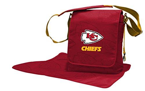 Wild Sports NFL Kansas City Chiefs Messenger Diaper Bag, 13.25 x 12.25 x 5.75-Inch, Red by Wild Sports