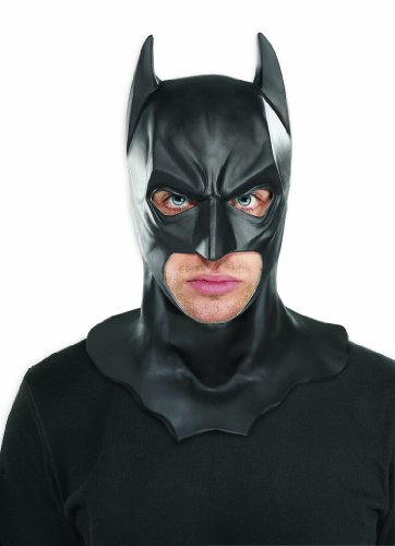 Batman Dark Knight Costumes Adults (Batman The Dark Knight Rises Full Batman Mask, Black, One Size)