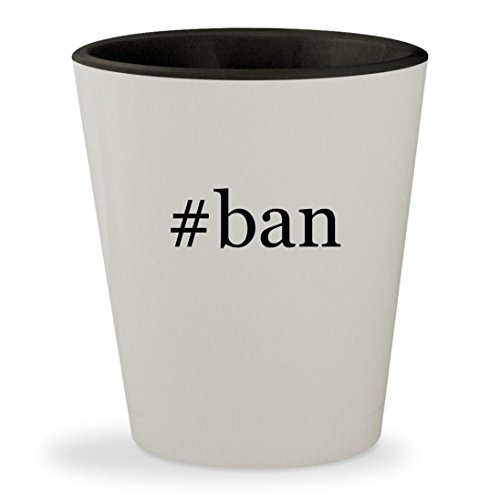 #ban - Hashtag White Outer & Black Inner Ceramic 1.5oz Shot - Hut Twitter Sunglass