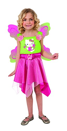 Rubies Hello Kitty Butterfly Fairy Costume, Child Medium (Hello Kitty Halloween Costume For Kids)